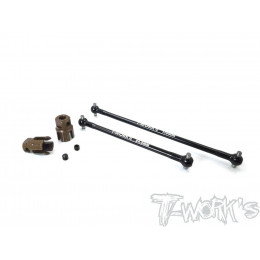 T-Work's Cardans Central + Noix Aluminium RC8 B3.1 TO-264-R