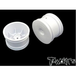 """T-Work's Jantes Arrières 2.2"""" 12mm Blanches (x2) TE-218-CW"""