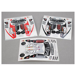 LOSI Carrosserie Micro Rally 1/24 (Bleu/Argent) LOSB1795