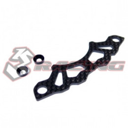3RACING Support d'amortisseur Arrière Graphite Tamiya M-07 M07-10